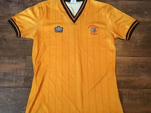 1982 1983 Hull City Home Football Shirt Large